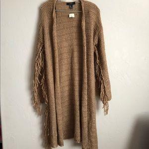 NWT F21 Fringe Knit Cardigan